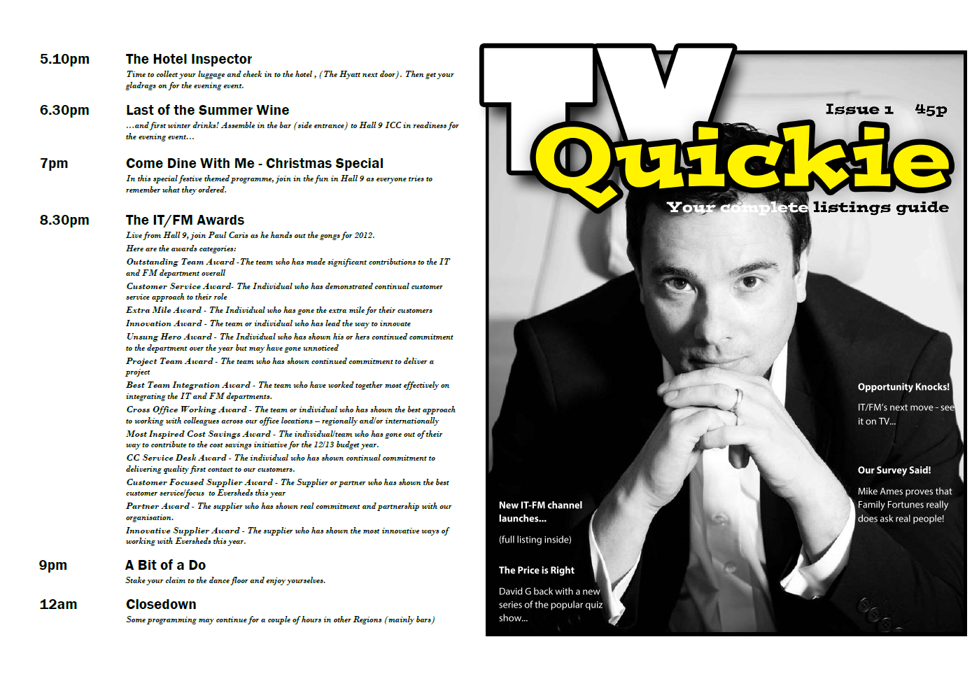 TV Quickie cover and back page