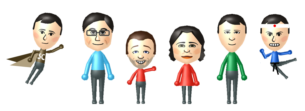 A sequence of Mii characters