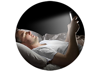 Browsing a device in bed