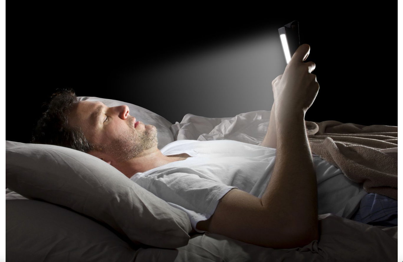 Browsing on a device in bed