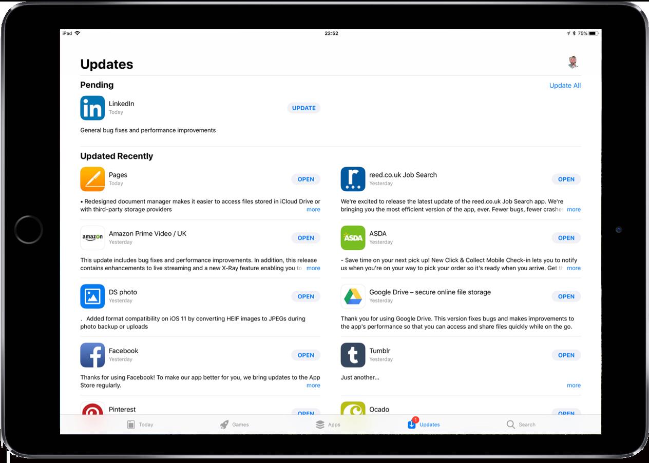 Screenshot of the new App Store