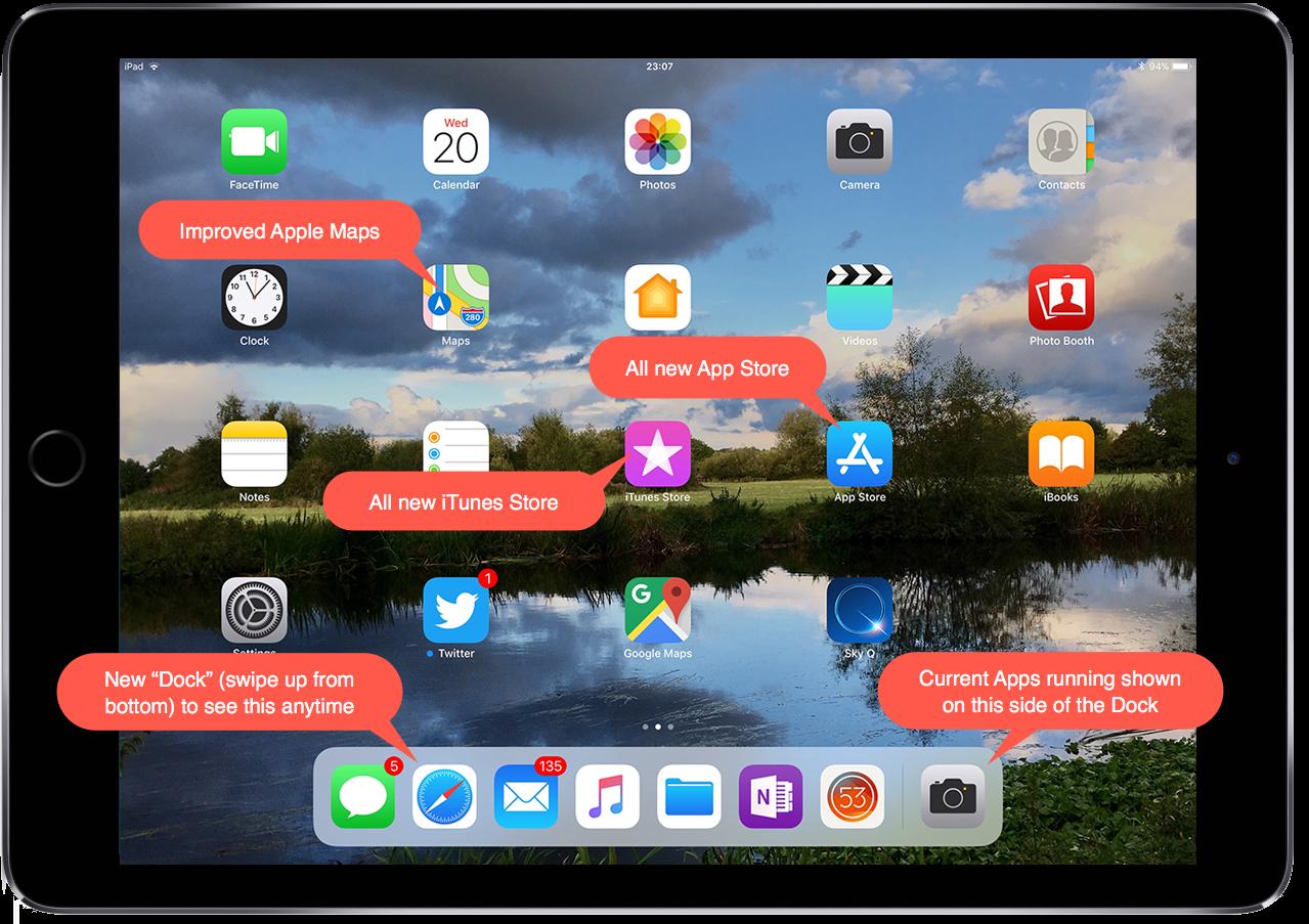 Screenshot of iOS11 on iPad