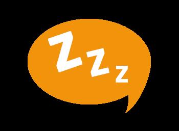 Image showing a sleepy cartoon bubble