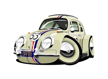 Cartoon version of Herbie