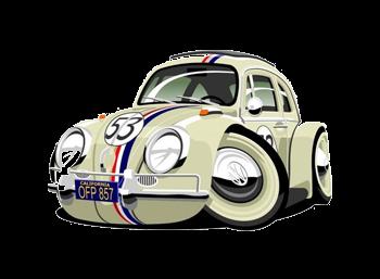 Cartoon version of Herbie