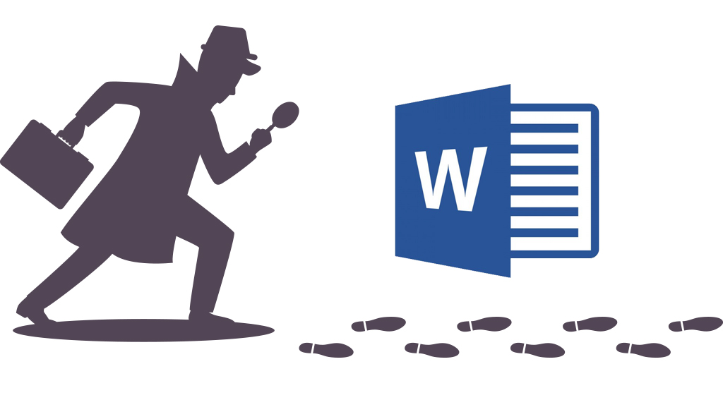 Detective searching for things in Word