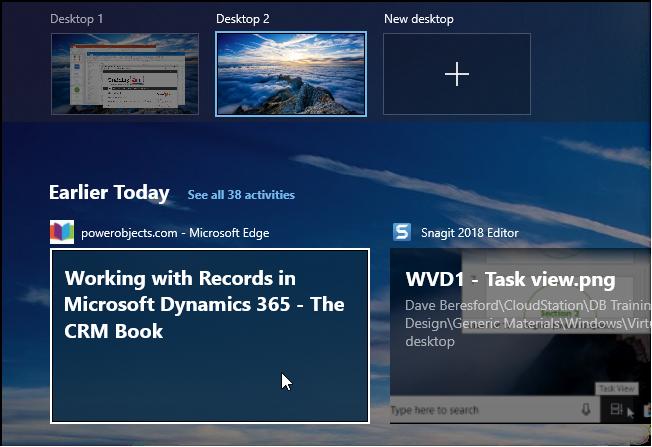 Screenshot of New Desktop