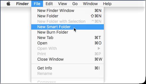 File - New Smart Folder