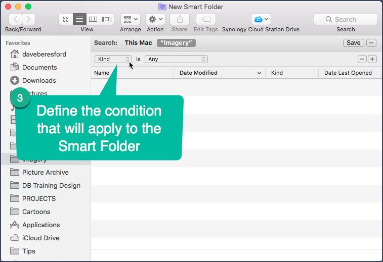 Entering criteria to a Smart Folder