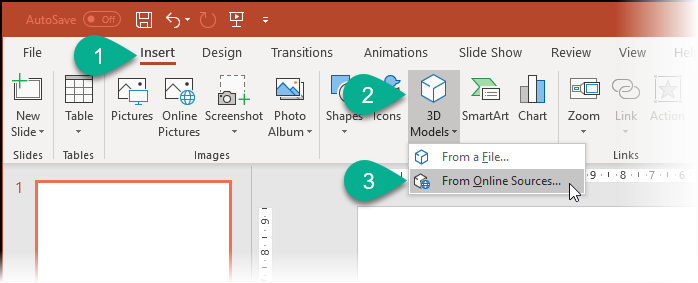 Selecting 3D Objects in PowerPoint