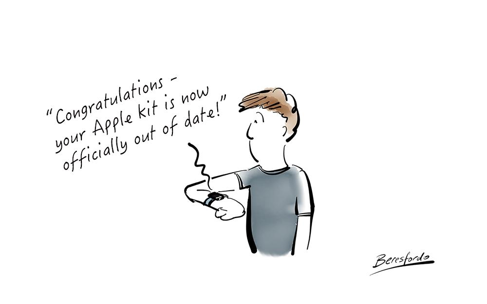 Cartoon about Apple updates