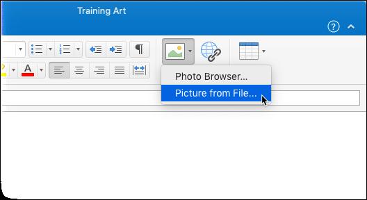 Selecting an image