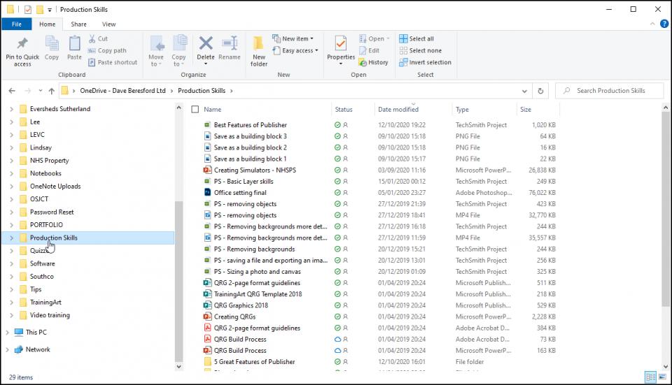 OneDrive open in File Explorer