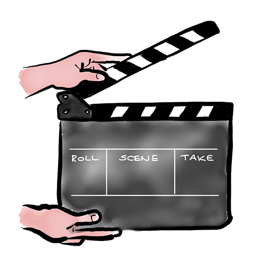 Using a clapperboard