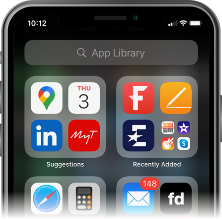 App Library on an iPhone screenshot