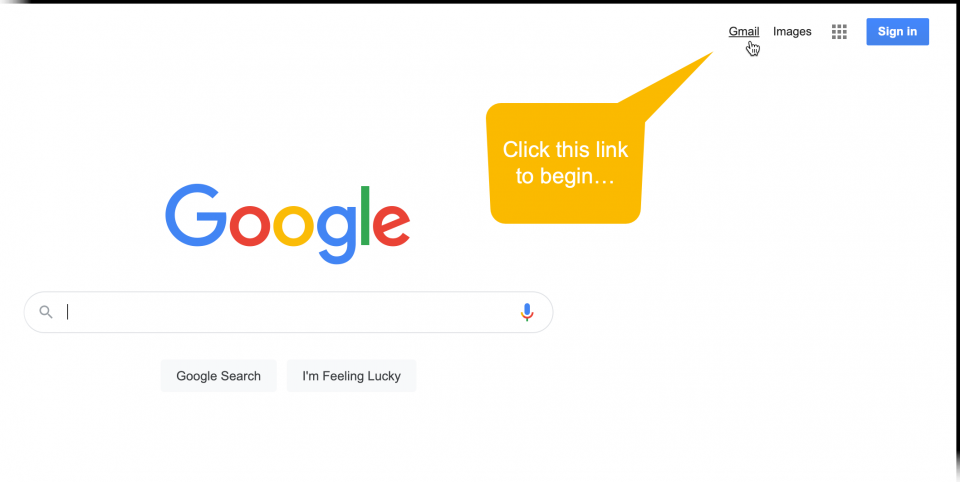 Screenshot showing a user clicking on the Gmail icon